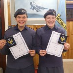 Cdt Sergeant Lenney and Cadet Slater with their Regional Blues