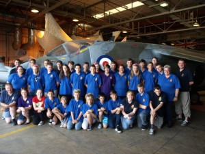 Photo Call at the Harrier Heritage Hangar